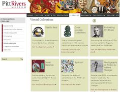 Pitt Rivers Museum website - Virtual Collections