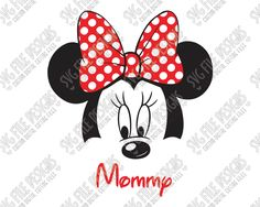 Minnie Mouse Mommy Cut File Set in SVG, EPS, DXF, JPEG, and PNG