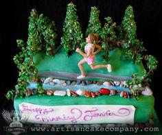 Runners Birthday Cake