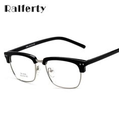 843cf0dcf7761 FuzWeb Ralferty Semi-Rimless Eyeglasses Frame With Clear Lens, Retro Eye  Glasses Frame