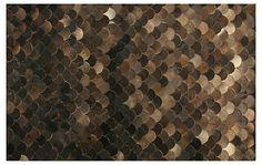 One Kings Lane - Rug Refresh - Pebblestone Hide, Chocolate
