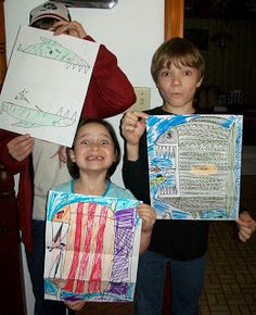 Beth's Art Blog: Funky fish art project (This would be a great project for a Jonah and the whale.)