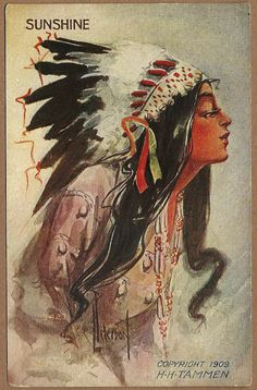 1900 indian maiden postcards   Artist Signed Embossed Postcard of Native American Indian Maiden 1911 ...