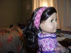 Easy Peasy American Girl Headband Tutorial