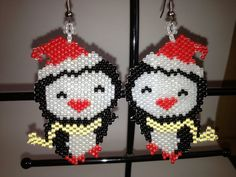 Hey, I found this really awesome Etsy listing at https://www.etsy.com/listing/86159087/beaded-big-head-penguin-earrings