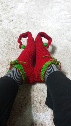 Elf slippers crochet
