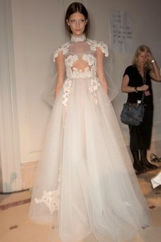 Valentino Spring 2012 -  A little too much transparent on the front but wonderful, especially the sleaves!!!