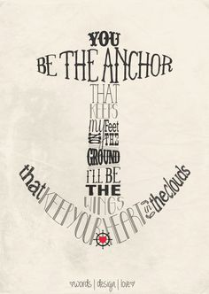 You be the anchor Nautical Typography Poster by wordsdesignlove