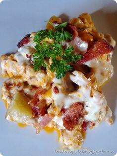 Hot Wing Chicken Casserole #Recipes