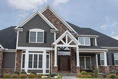 exterior+fake+rock+siding | Ohio home with exterior thin cut faux stone siding
