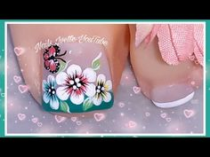Toe Nail Art, Toe Nails, Toe Nail Flower Designs, Merry Christmas Gif, Flower Nails, Manicure And Pedicure, Lily, Make It Yourself, Tattoos