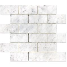 SASSI   Bianco Polished Brick Mosaics - 2 Inch x 4 Inch    Model: 12-130 | Internet/Cat: 918926 | Store SKU: 1000664214