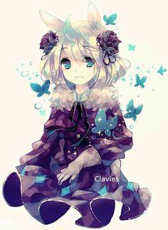 Kawaii-chan #12 (;ω;) butterflies