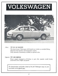 Volkswagen ad 1971
