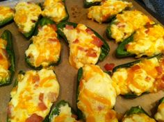 """Low-Carb Stuffed Jalapeño Poppers make astounding appetizers for your dinner party guests! This """"skinny"""" version of these delectable morsels are still packed with all the richness and piquant flavor of the original recipe, and are guarateed to go quickly. Enjoy!"""