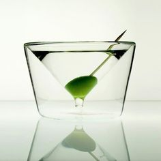 Inside Out Martini Glass by AlissiaMT
