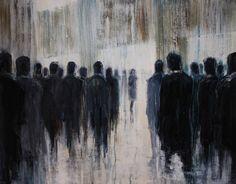 "Painting, ""Slow Progress (for sale when dry)"" Painting Inspiration, Art Inspo, Arte Obscura, A Level Art, Gcse Art, Foto Pose, Selling Art, Art Plastique, Figure Painting"