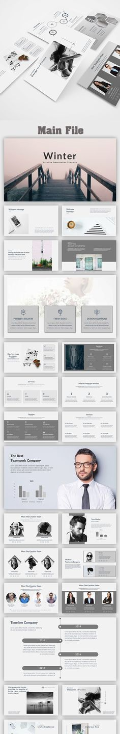 Mincy - Creative PowerPoint Template Pinterest Data charts