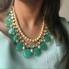 High quality Kundan and semi precious beads jewellery! Prices only on DM…