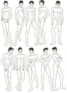 DONNO W!B: Desenhar homens (croquis)