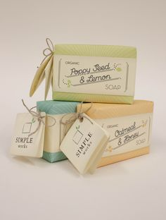 Soap packaging - Simple Works (ORGANIC SOAPS) by Christin Arnhold