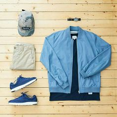 Outfit grid - Blue jacket