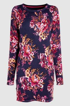 Buy Navy Floral Printed Tunic from the Next UK online shop 26cc85a9ca9