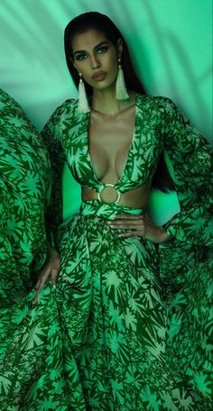Fashion Themes, All Fashion, Couture Fashion, Vintage Fashion, Vintage Couture, World Of Color, Designer Gowns, Scandinavian Style, Shades Of Green