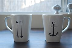 The Gray Bungalow - DIY sharpie mugs