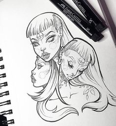 Waiting for my chance to doodle some more today ✍ I need drawing time like plants need water & sunshine ☀️ #tb #graphicartery #art #artist #artwork #sketch #drawing #illustration #tattoo #occult #witch #longhair #art_spotlight #art_empire #artcollective #ink #tattoos #artistsoninstagram #artoftheday #myart