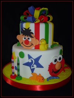 Elmo/Ernie Birthday Cake by It's All About the Cake, via Flickr