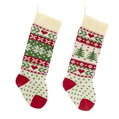 Red, White And Green Christmas Tree And Snowflake Knit Stockings Kurt Adler http://www.amazon.com/dp/B00M8U5V04/ref=cm_sw_r_pi_dp_I2pvub00ABG3G