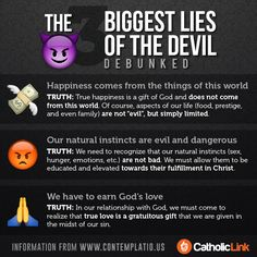 "the soul god religion and evil from a catholic church perspective The seven deadly sins and their remedies  we must not neglect the affairs of the soul ""seek first [god's]  the catholic church has always taught."