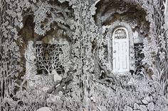 Detail from wild garden altered book Paper Art, Paper Crafts, Tunnel Book, Handmade Books, Handmade Notebook, Pop Up Art, Altered Book Art, Book Sculpture, Diy Arts And Crafts