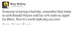 Sale of Apple stock in the 1970s leads to most depressing Tweet ever...