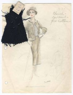 Bergdorf Goodman sketches : Chanel 1930-1939 :: Costume Institute