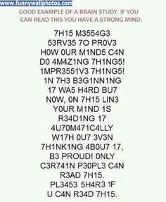 I have a strong mind