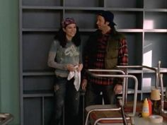 Photo of Luke and Lorelai for fans of Java Junkie (Luke and Lorelai). Luke And Lorelai, Lorelai Gilmore, Gilmore Girls, Lauren Graham, Java, Painting, Painting Art, Paintings