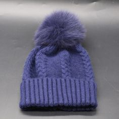 Real Fur Pompom Winter Hats For Women Cashmere Wool Knit Beanie Cap Fox Fur Pom Bobble Hat 2016 FURANDOWN-in Skullies & Beanies from Women's Clothing & Accessories on Aliexpress.com   Alibaba Group