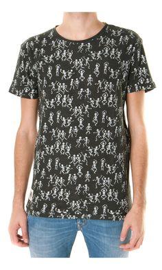 Worn By Dancing skeleton Printed T-shirt - black - #menswear