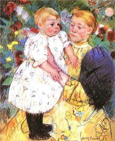 In the garden - Mary Cassatt