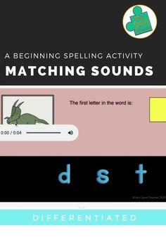 This activity is perfect for distance learning! In this activity, students will work on their ability to associate sounds with letters.This 3 pack allows you to differentiate for all your learners! Students are shown a target picture, which is accompanied by an audio recording. Their job is to determine which letter makes the first sound in the word represented by the picture. This pack has the same activity presented three ways: 2 options, 3 options, and 4 options. #learnspelling Early Elementary Resources, Learn To Spell, Preschool Special Education, Spelling Activities, English Reading, Data Collection, Differentiation, Literacy, Letters