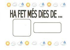 EL TEMPS 6 Valencia, Planners, School Ideas, Meteorology, School, Classroom Setup, Sayings, Organizers