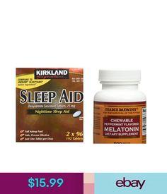 Sleeping Aids Kirkland Signature Nighttime Sleep Aid & Trader Joe's Melatonin Bundle. #ebay #Fashion