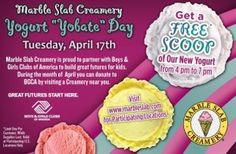 Marble Slab Creamery Free Scoop! Marble Slab Creamery, Tax Day, Printable Coupons, Love Is Free, Yogurt