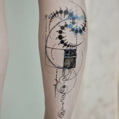 Golden ratio tattoo by Marie Roura MarieRoura graphic spiritual sacredgeometry goldenratio spiral
