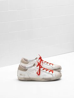 reputable site ceb25 4cc3b Golden Goose Donna Superstar Trainers Italia - Bianca Khaki