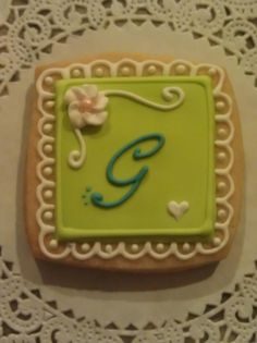 Letter G cookie