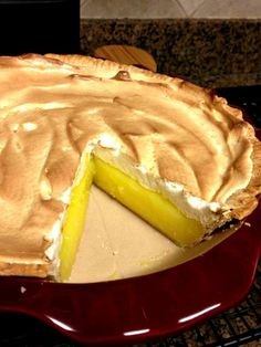 Lemon meringue pie. see if they got any pie. BRING ME SOME PIE lmao