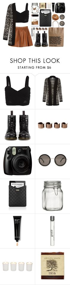 """""""Wanderlust"""" by jasmyn-teaa ❤ liked on Polyvore featuring Bardot, Cameo Rose, Dr. Martens, Maison Margiela, Fujifilm, The Row, Marc Jacobs, Crate and Barrel, Bobbi Brown Cosmetics and philosophy"""